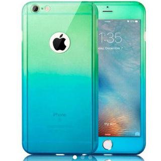 グリーン×ブルー グラデーション iphone7