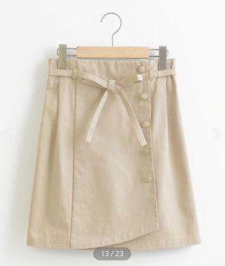 【新品】トレンチライク リボンスカート