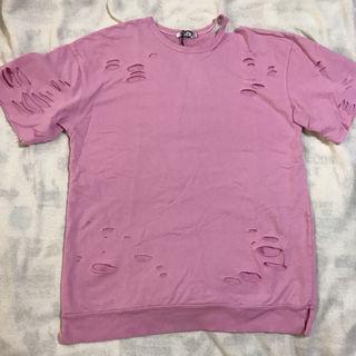 ピンクダメージTシャツ