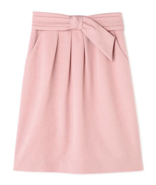 タックリボン付きタイトスカート