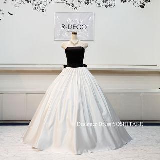 ウエディングドレス(パニエ無料) ブラック&ホワイト