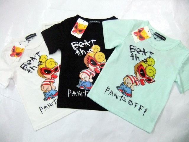 3色★ヒステリックミニ キッズTシャツ アメリカスタイル