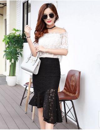 韓国ファッション 秋のフレアスカート