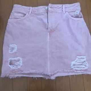 H&M ピンクミニスカート