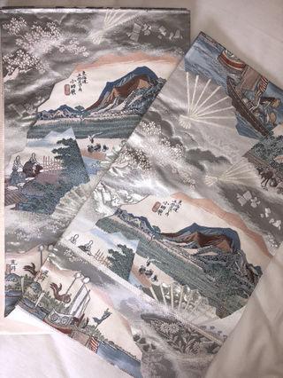 東海道五十三次帯 プラチナ箔