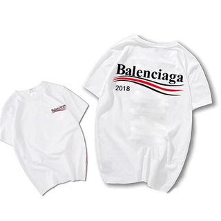 バレンシアガ春夏Tシャツカップル 半袖カットソー男女兼用