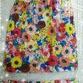 rienda カラフル花柄スカート