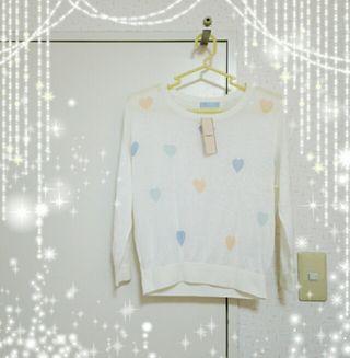 titty&Co ハート柄ニットトップス