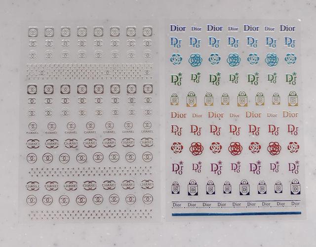 ブランドロゴ ネイルシール 2枚セット - フリマアプリ&サイトShoppies[ショッピーズ]