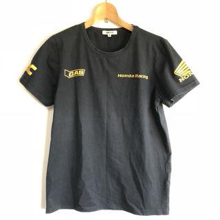 GAS HONDA ホンダ ゴールドプリント Tシャツ bk