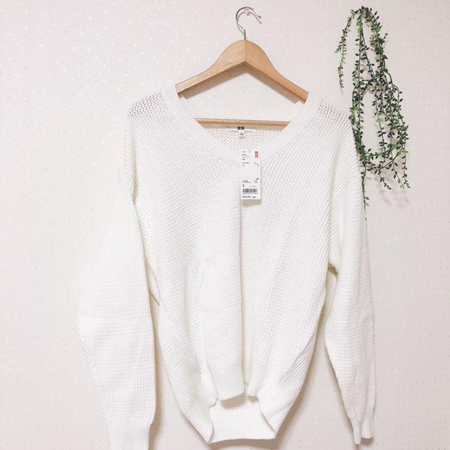 【新品】UNIQLO オーバーサイズVネックセーター