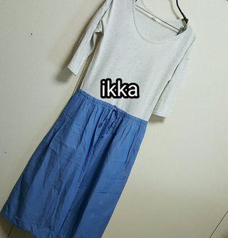 ikka ロング丈ワンピース