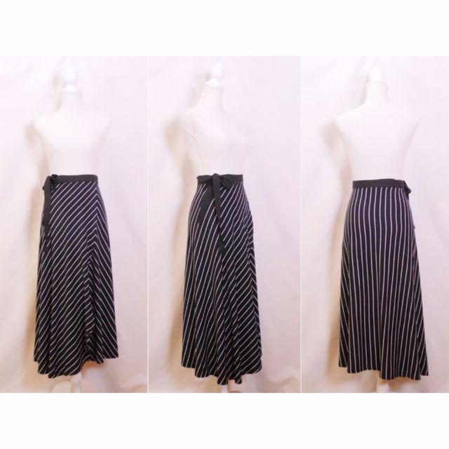 【女性らしさ満点】リボンラップスカート