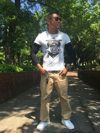 09・John GallianoドクロデザインTシャツ/白