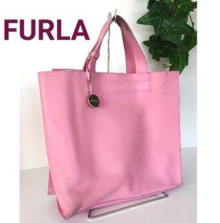 正規 フルラ レザー ハンドバッグ ミニトートバッグ ピンク