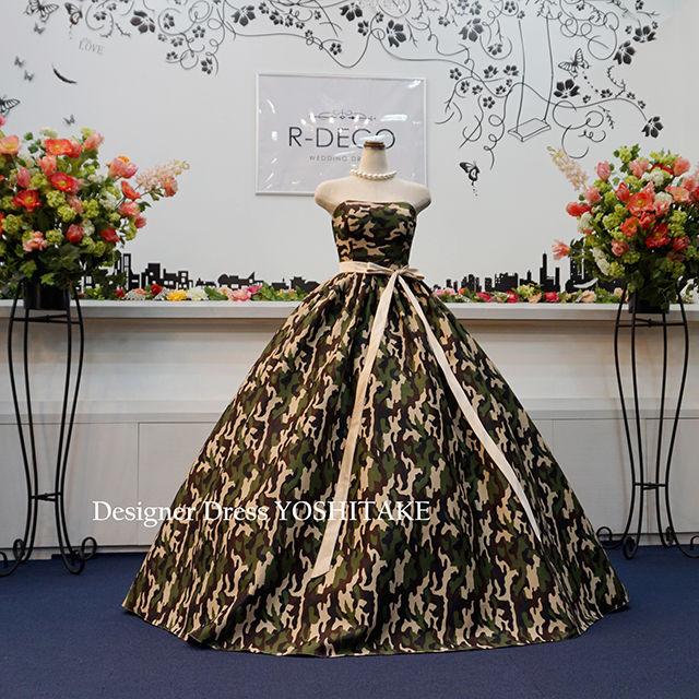 ウエディングドレス(パニエ無料) 迷彩柄ドレス - フリマアプリ&サイトShoppies[ショッピーズ]