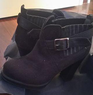 エスペランサ サイドゴア ベルト付 ブーツ