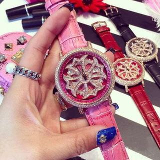 【国内発送】送料無料 ショパール  くるくる腕時計 超人気