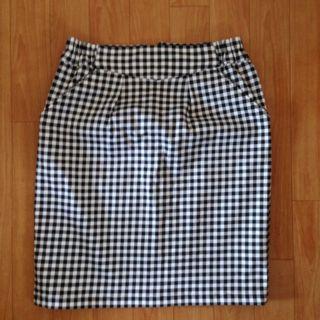 リオ今季ギンガムチェックタイトスカート