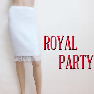 極美ラインロイヤルパーティー リブストレッチスカート