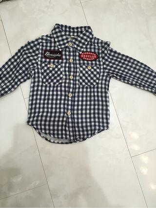 スキップランド チェックシャツ 100