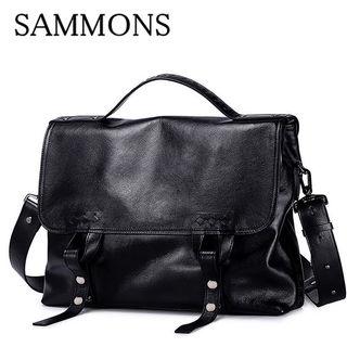 SAMMONSメンズメッセンジャーバッグ牛革黒A80