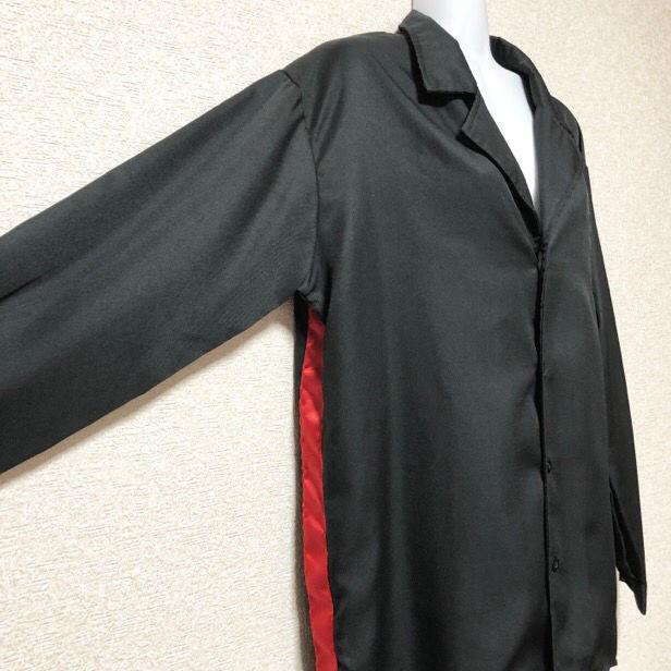 【新品/Drug honey】サイドサテンライン入開襟シャツ