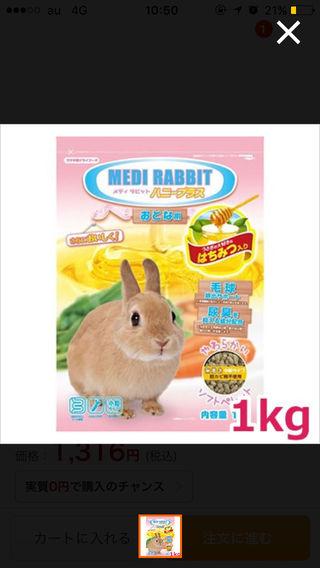 ウサギ用フード メディラビット ハニープラス 1kg