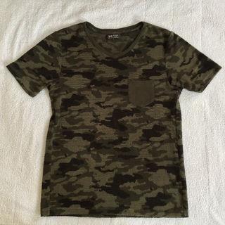 BEAMS カモフラ柄 S パイル Tシャツ Vネック