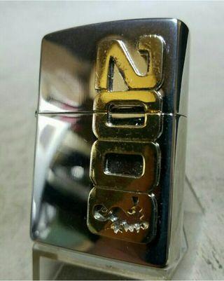 中古美品99E'Zippoミレニアム限定プラチナミラー