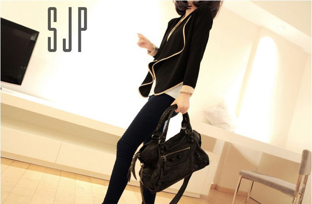 【FREE・ブラック】パイピングジャケット