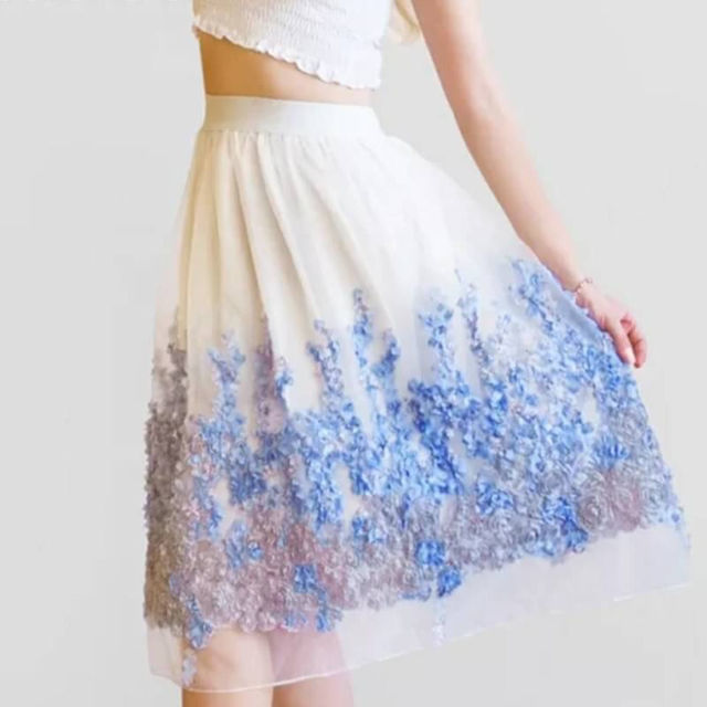 激安価格 花柄 ブルー スカート 送料無料 早い者勝ち - フリマアプリ&サイトShoppies[ショッピーズ]
