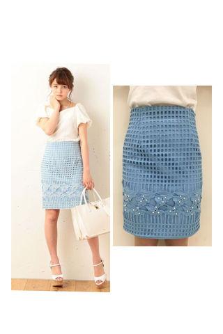 新品 MIIA フラワーサンドスカート