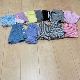12点まとめ売り女の子夏服パンツ90