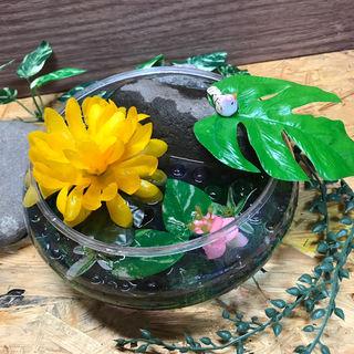 癒しのアクアリウム!アーティフィショナルフラワー&自然石