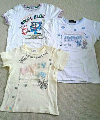 ナルミヤ / 3枚組半袖Tシャツ