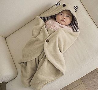 【可愛い!】新生児 マイクロフリース ベビー ブランケット