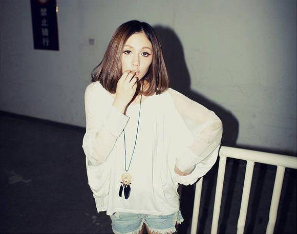 新品シンプル 袖シフォン 透け感綺麗 トップス