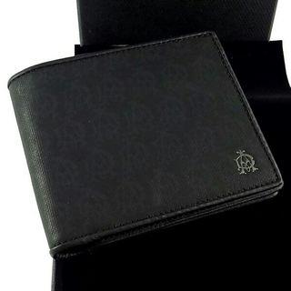 ダンヒル 二つ折り財布 ダークグレー 小銭入無