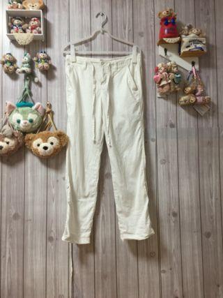 コーエン 綿×麻白パンツ