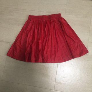 合皮プリーツスカート