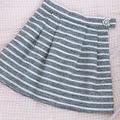 美品 ビジュー ボーダー ツイード スカート ネイビー