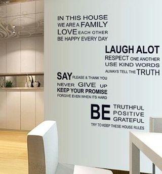 シンプルなデザインが人気の英語の壁紙シール 貼り紙シール