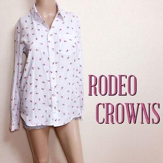 爆キュートロデオクラウンズ デザインボタンシャツ