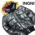 ほぼ未使用 イング 裏地ピンク中綿ファー付きジャケットS51