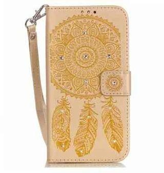 iPhone 6/6s ゴールド ボヘミアン 手帳型ケース