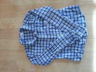 ココボンゴ☆チェックシャツ(blue)