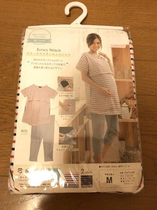 送料込み新品、未使用マタニティパジャマパンツ付き