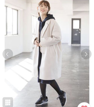 chocol raffine完売インナー付コート