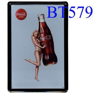 ブリキ看板Coca Cola コカコーラ [BT579]